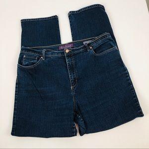 GLORIA VANDERBILT Women's Blue Jeans Sz 18 Stretch